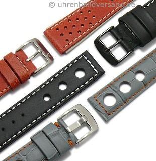 Racing-Uhrbänder Leder/ Kunststoff/ Textil mit unterschiedlichem Design
