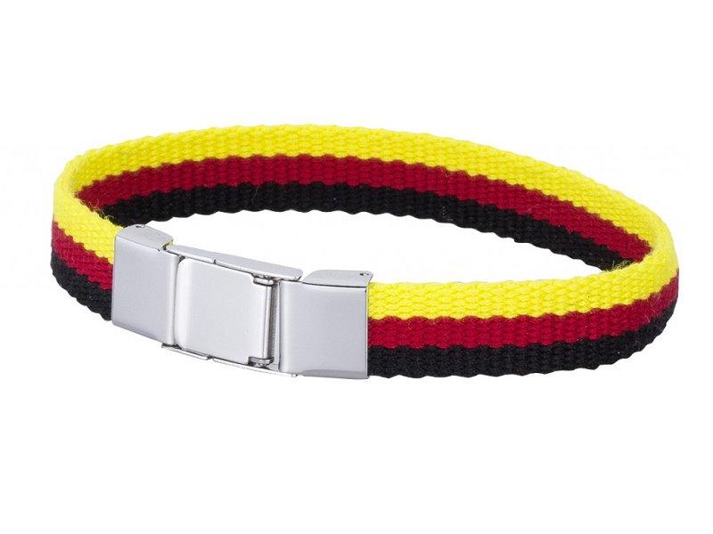 Rot Deutschland Armband Textil Schwarz Gold VzqSMUp