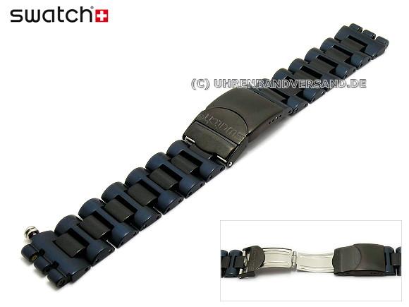 Swatch armband 19mm schwarz